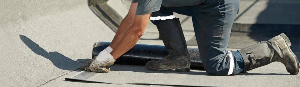 dakreparatie op plat dak